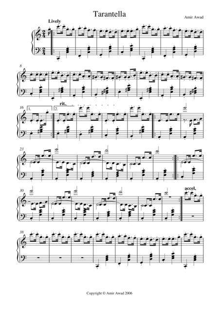 Tarantella for Solo Piano