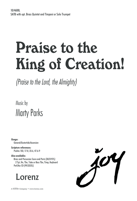 Praise to the King of Creation!