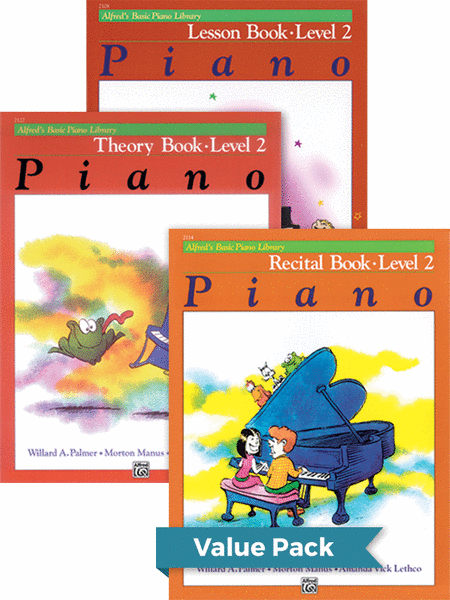 Alfred's Basic Piano Course - Lesson, Theory, Recital Level 2 (Value Pack)