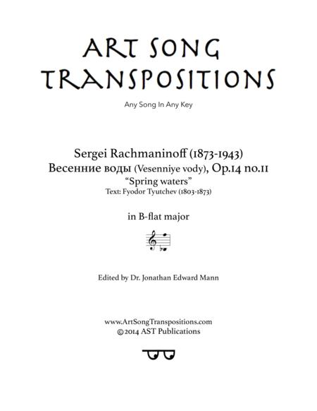 Spring Waters, Op. 14 no. 11 (B-flat major)