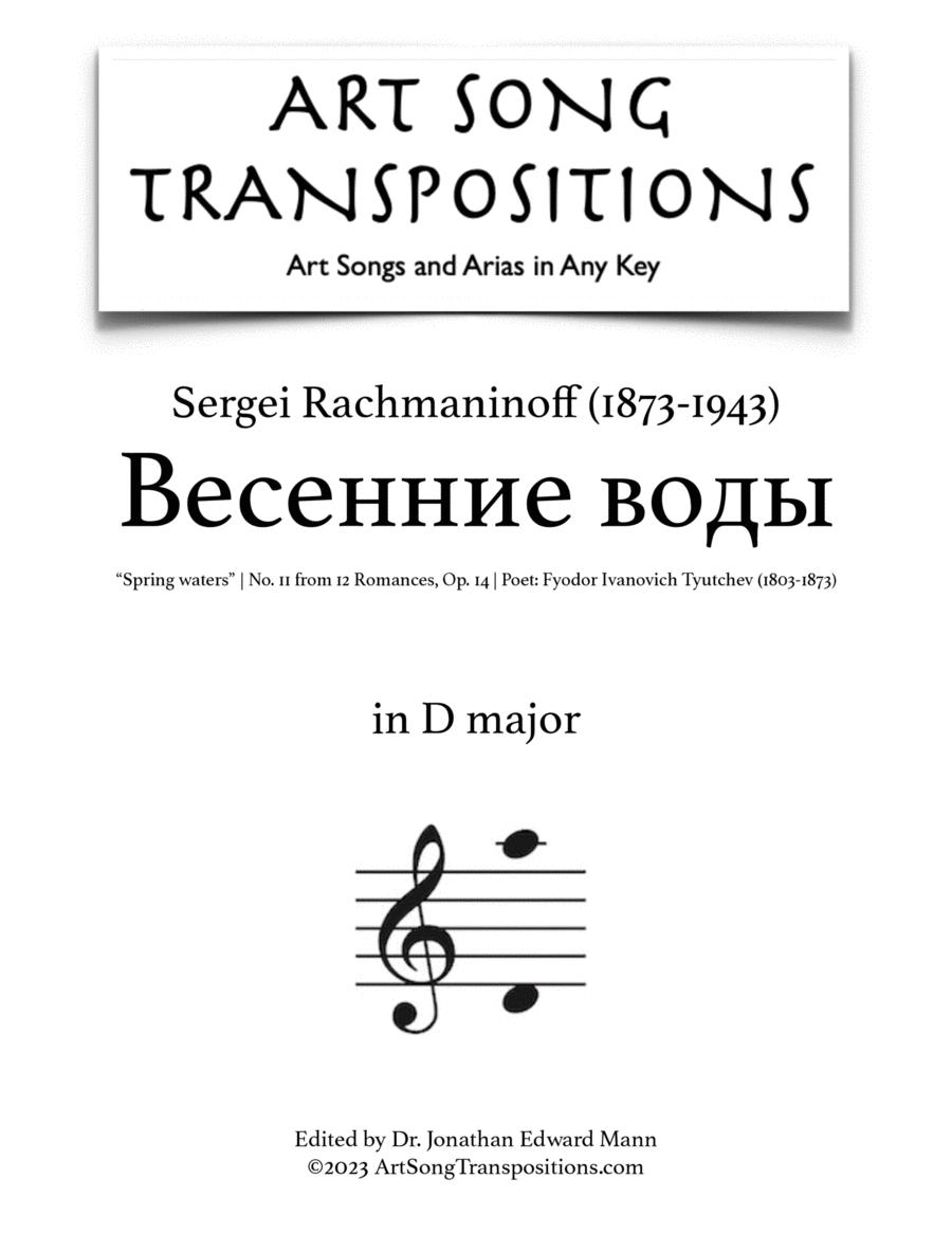 Spring Waters, Op. 14 no. 11 (D major)