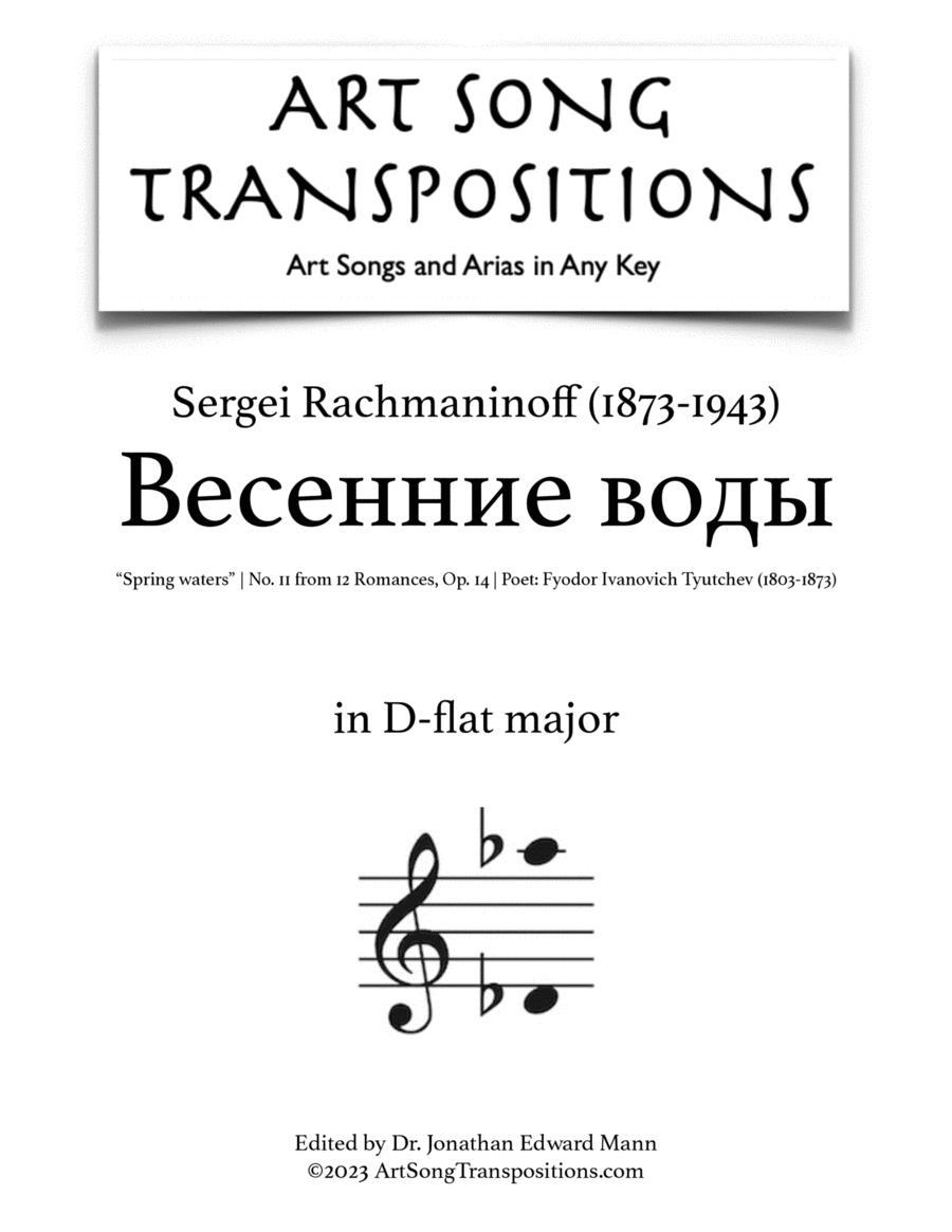 Spring Waters, Op. 14 no. 11 (D-flat major)