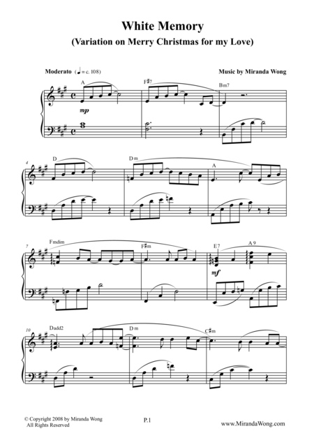 White Memory - Romantic Piano Music by Miranda Wong