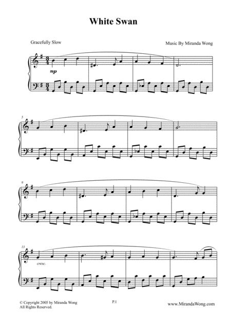 White Swan - Classical Piano Music by Miranda Wong