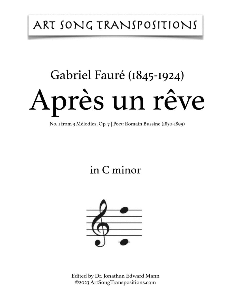Après un rêve, Op. 7 no. 1 (C minor)