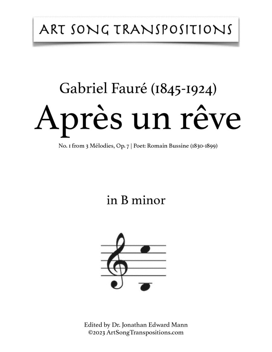 Après un rêve, Op. 7 no. 1 (B minor)