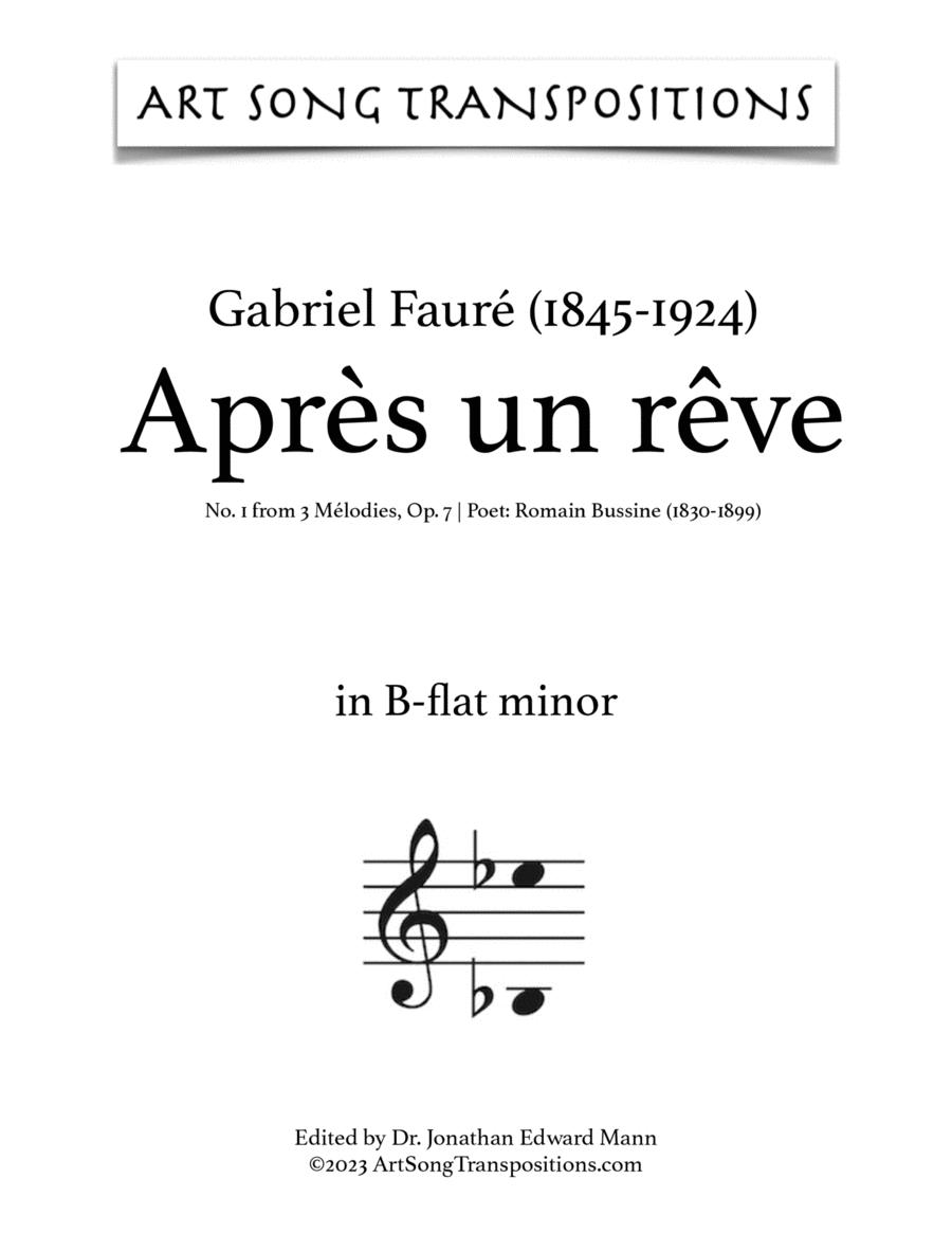 Après un rêve, Op. 7 no. 1 (B-flat minor)
