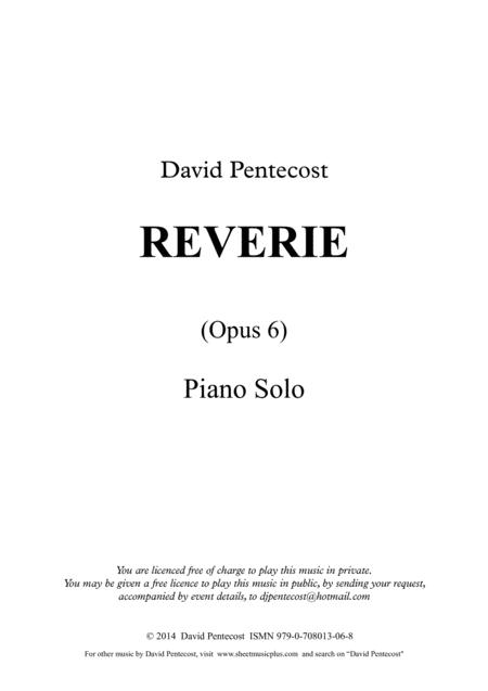 Reverie, Opus 6