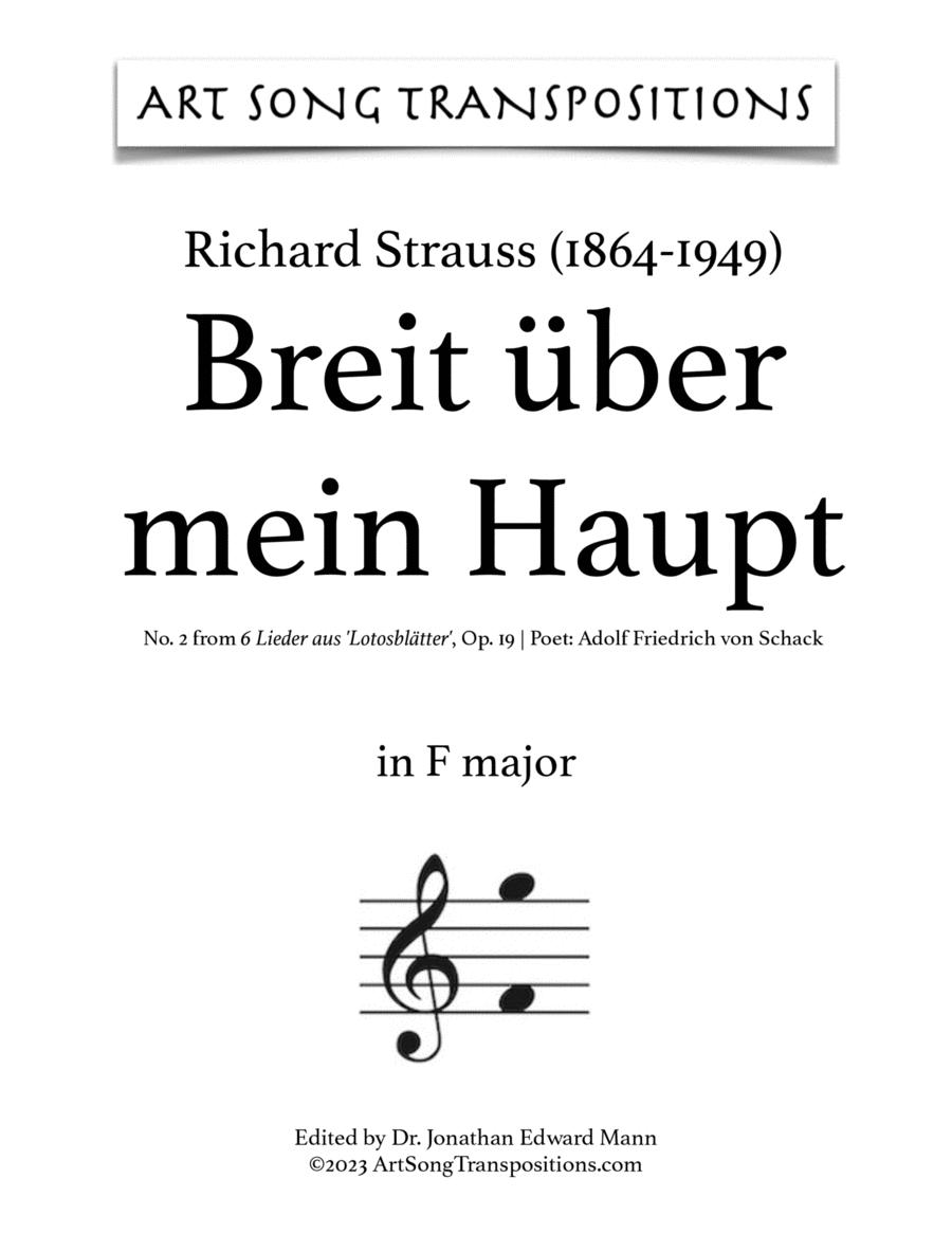 Breit' über mein Haupt, Op. 19 no.2 (F major)