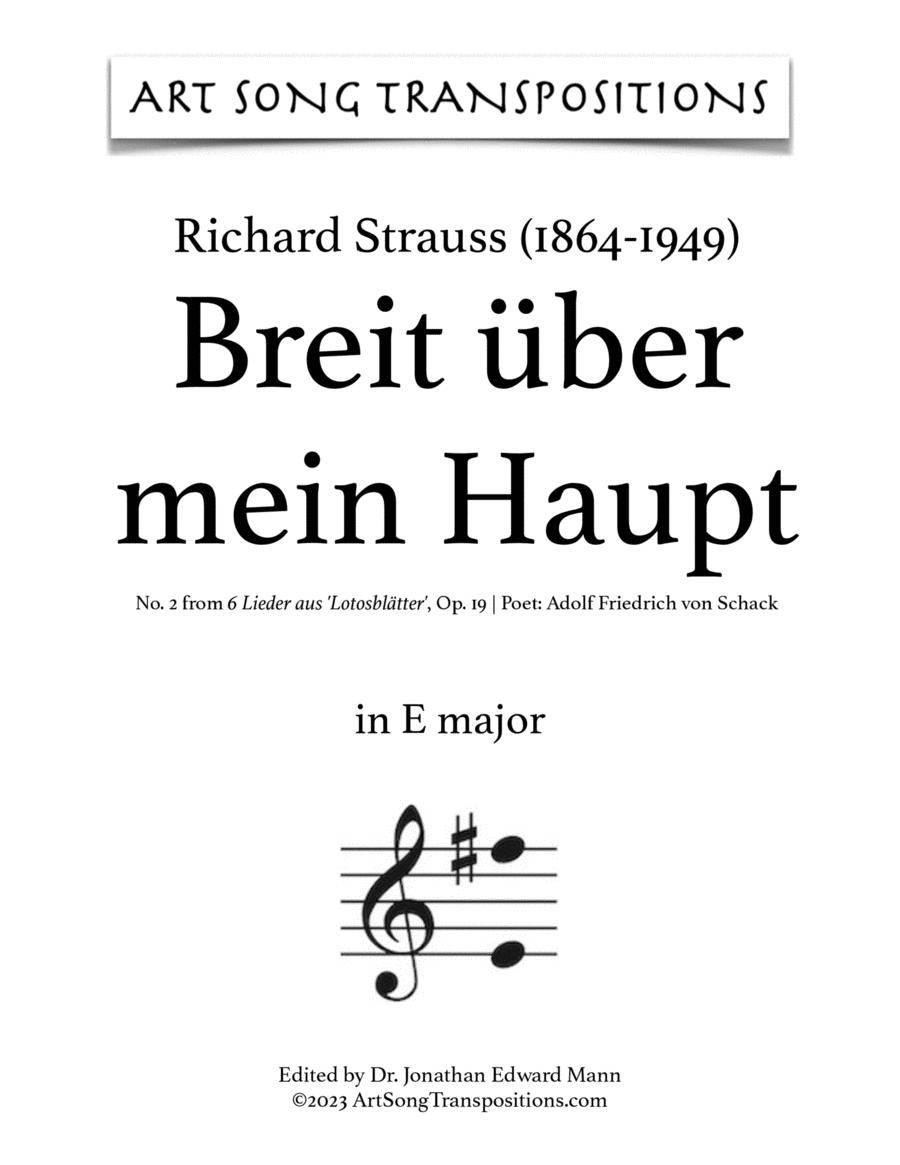 Breit' über mein Haupt, Op. 19 no.2 (E major)