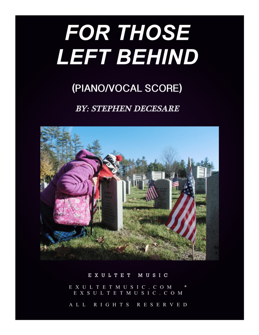 For Those Left Behind (Piano/Vocal Score)