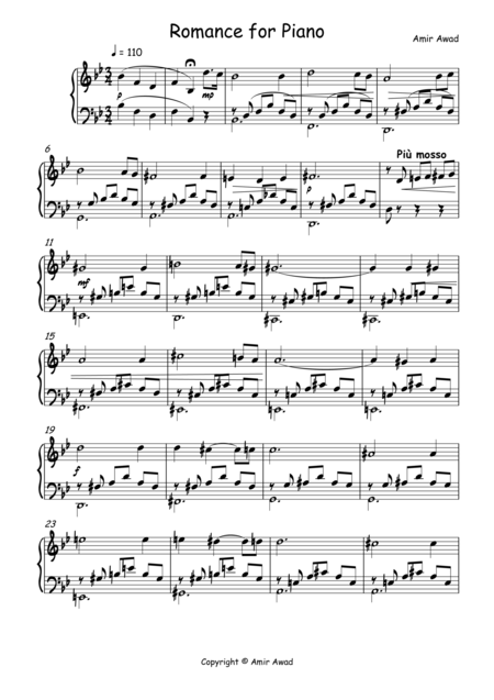 Romance for Solo Piano