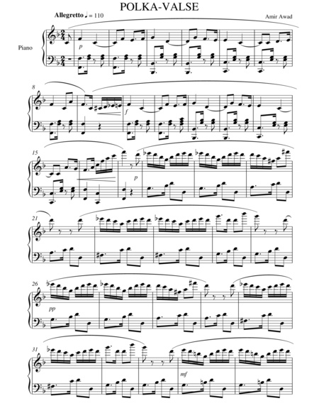 Polka in F for Solo Piano