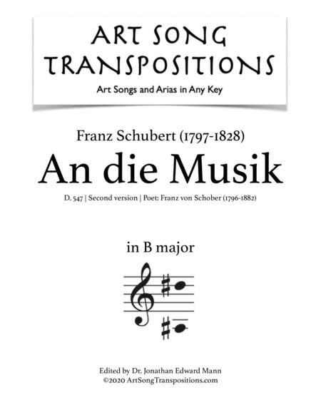 An die Musik, D.547 (B major)