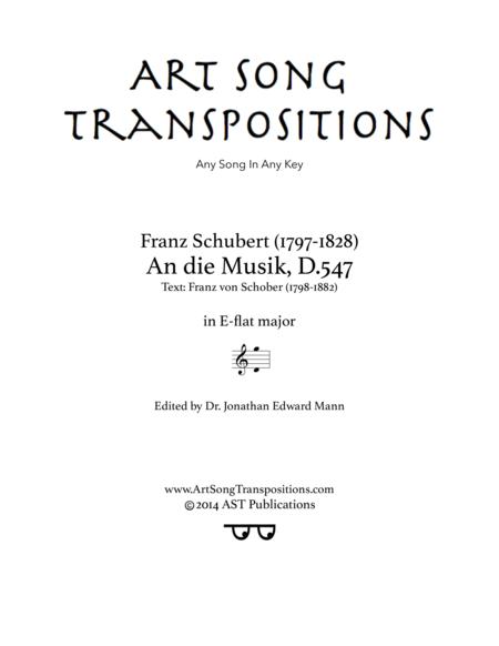 An die Musik, D.547 (E-flat major)
