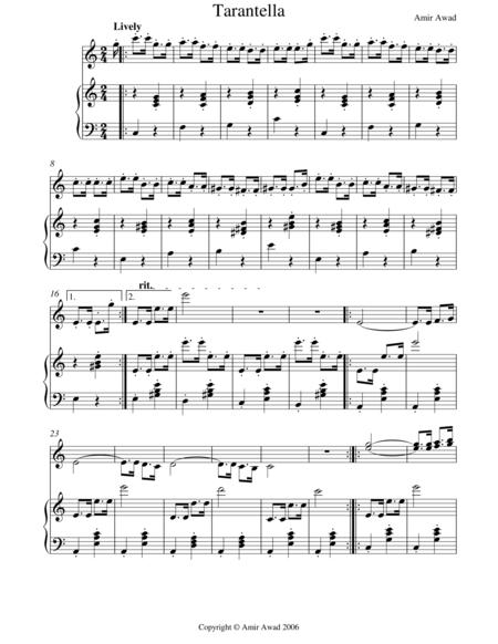 Tarantella for Solo Violin and Piano