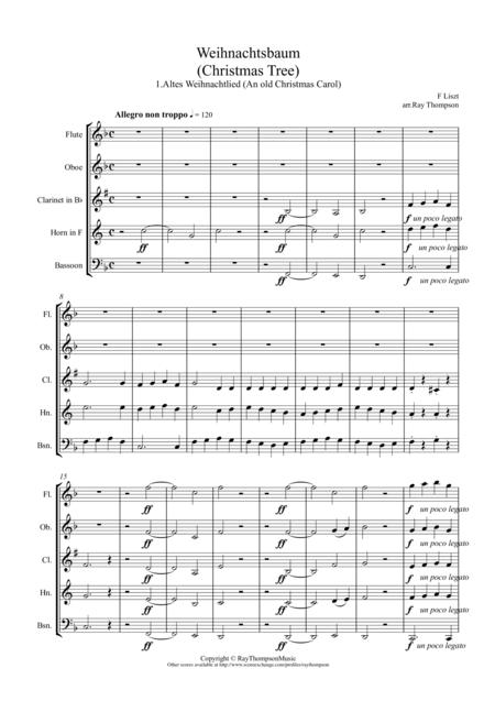 Liszt: Weihnachtsbaum (Christmas Tree) No.1. Altes Weihnachtlied (An old Christmas Carol) arranged wind quintet