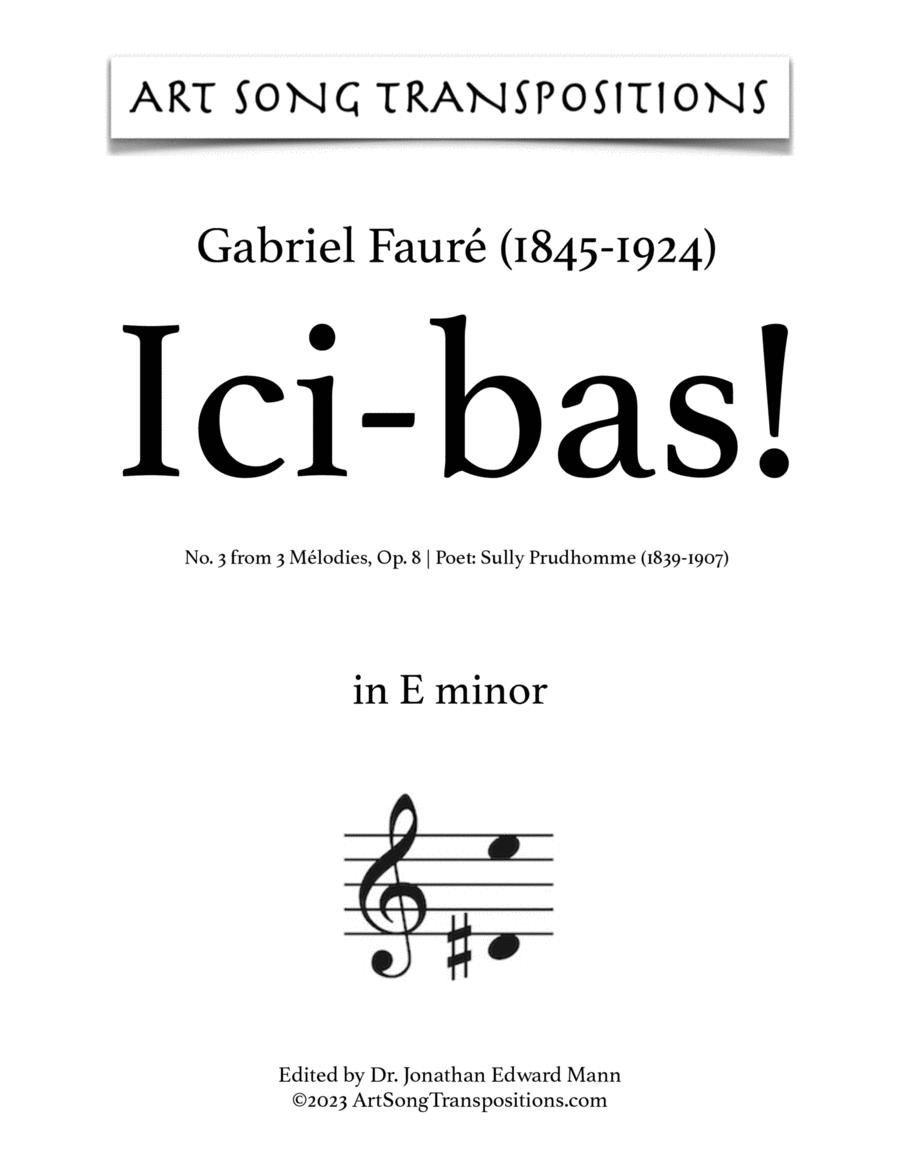 Ici-Bas! Op. 8 no. 3 (E minor)