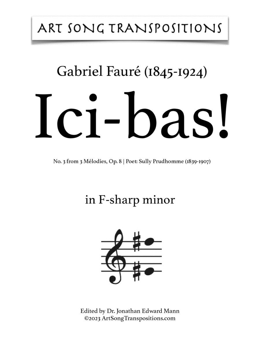 Ici-Bas! Op. 8 no. 3 (F-sharp minor)
