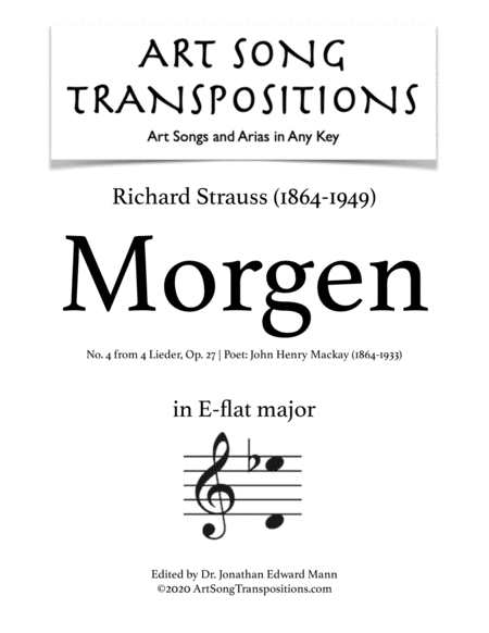Morgen! Op. 27 no. 4 (E-flat major)