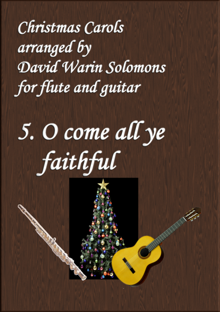 Christmas Carols for flute and guitar No 5 O come all ye faithful (Adeste Fideles)