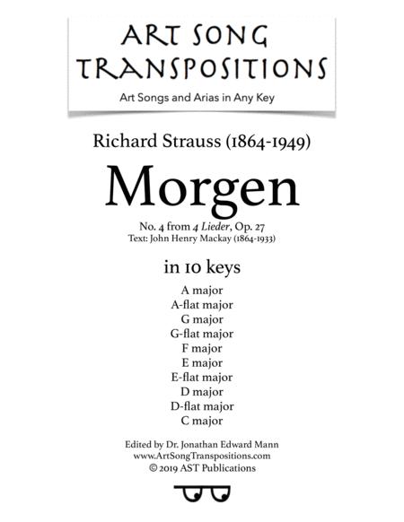 Morgen! Op. 27 no. 4 (in 8 keys)
