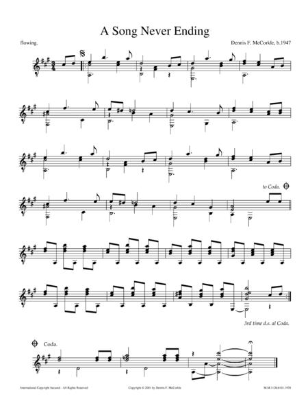 A Song Never Ending in A Major