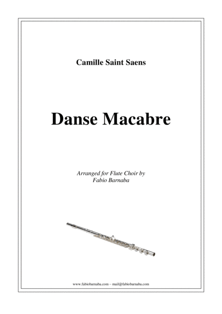 Dance Macabre - complete for Flute Choir
