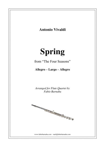 The Four Seasons - Spring - for Flute Quartet