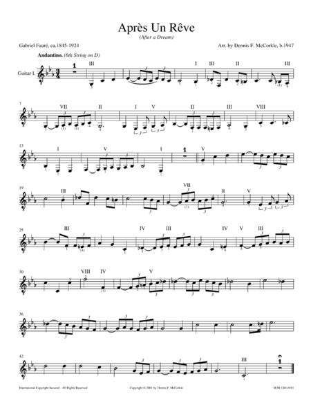 Après Un Rêve, After A Dream, Op. 7, No. 1