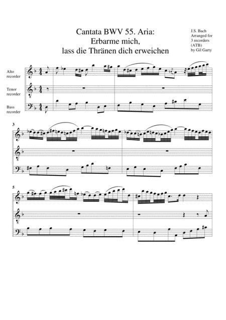 Aria: Erbarme mich, lass die Thraenen dich erweichen from Cantata BWV 55