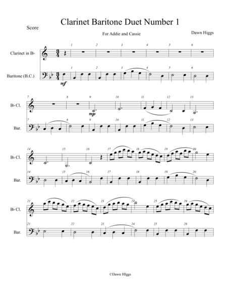 Clarinet Baritone Duet Number 1