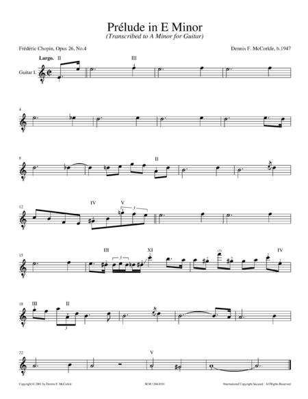 Prélude in E Minor, Op. 28, No. 4 (for Two Guitars)