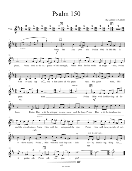 Psalm 150 (for Tenor and Piano)