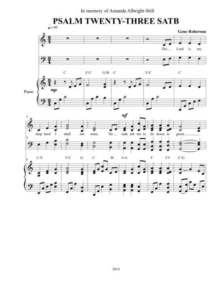 Psalm Twenty-Three