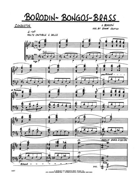 Borodin-Bongos-Brass - Full Score