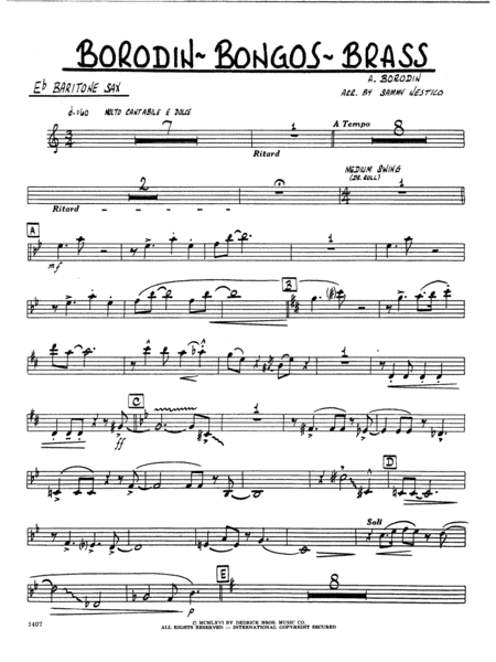 Borodin-Bongos-Brass - Eb Baritone Sax