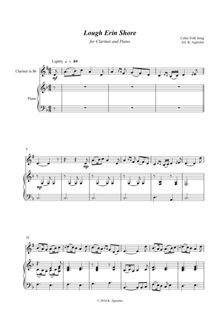 Lough Erin Shore - for Bb Clarinet and Piano