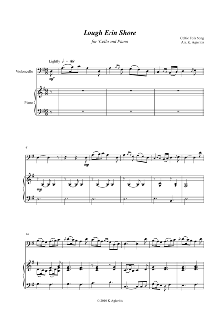 Lough Erin Shore - for 'Cello and Piano