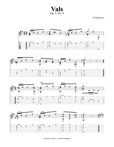 Vals, Op. 5, No. 9