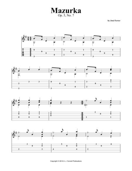 Mazurka, Op. 5, No. 7
