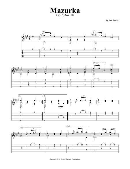 Mazurka, Op. 5, No. 10