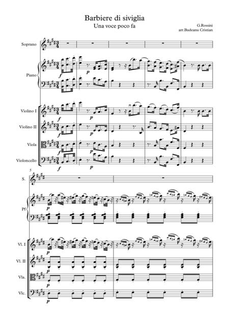 Una voce poco fa - transcribed for String Quartet