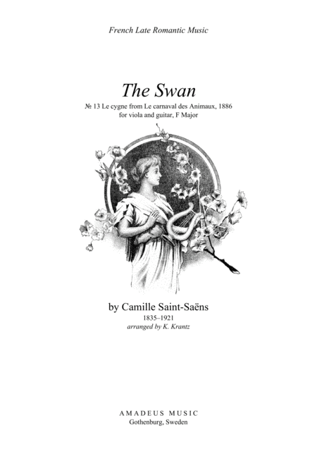 The Swan for viola and easy guitar (F major)