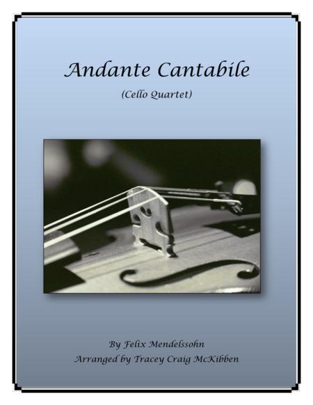 Andante Cantabile for Cello Quartet