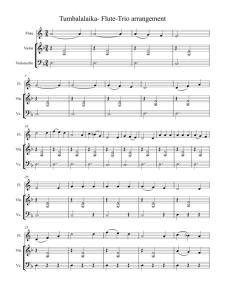 Tumbalalaika - Flute Trio Arrangement