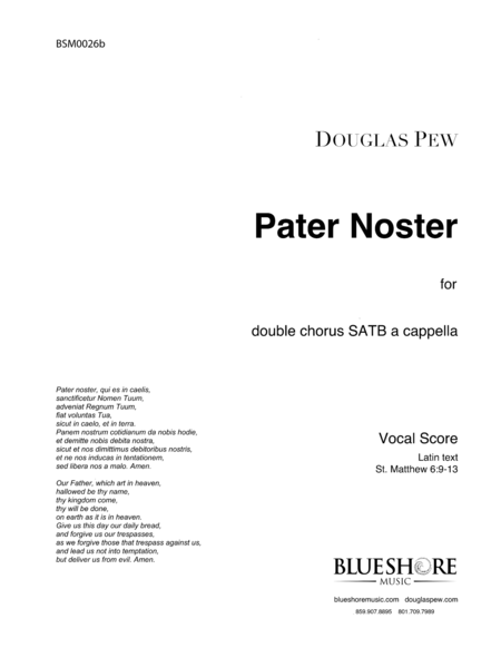 Pater Noster, Double Chorus a cappella