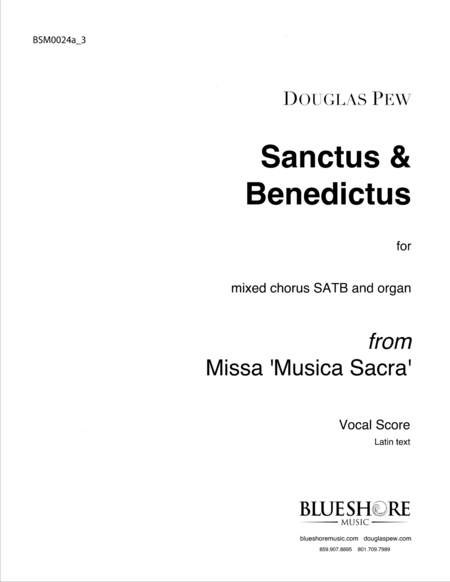 Sanctus & Benedictus, SATB and Organ