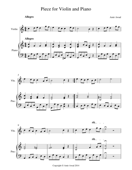 Piece for Violin and Piano
