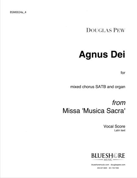 Agnus Dei, SATB and Organ